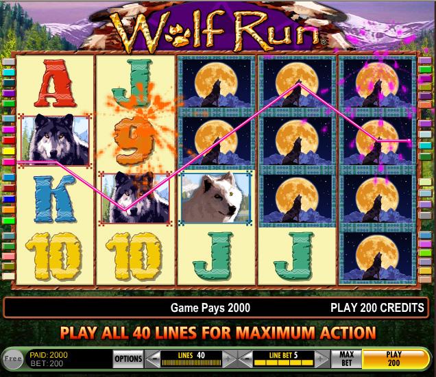 wolf run slots en ligne